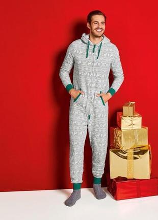 Новая мужская флисовая слип-пижама кигуруми livergy размер евро м 48/50
