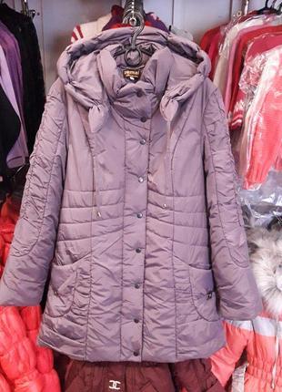 Демисезонная куртка, женская куртка деми большого размера