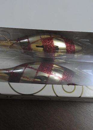 Елочные новогодние игрушки подвески блестящие шишки oriflame новый год
