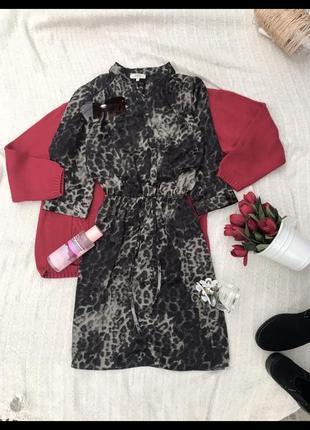 Актуальное платье в леопардовий принт сукня платья туніка