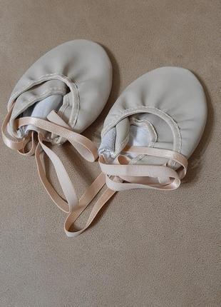 Получешки для гимнастики и танцев кожа