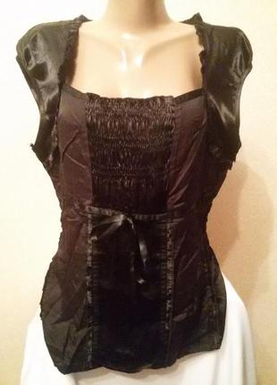 Атласная блуза next большой размер