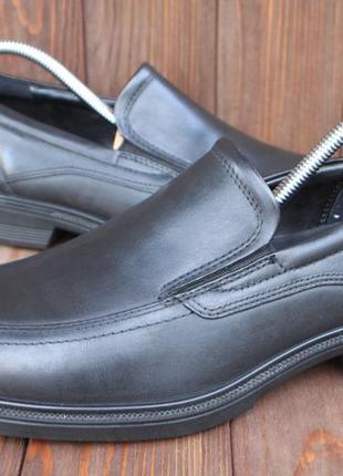 Туфли ecco кожа оригинал 41р лоферы мокасины