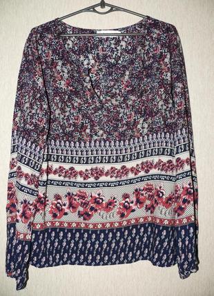 Кофточка,блузка вискозная,большой размер, супер принт