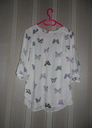 Блуза средний рукав размер 38 // м