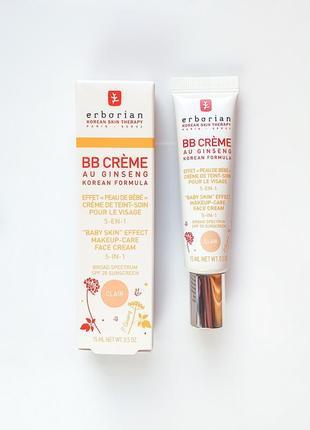 Erborian bb creme clair. bb крем для лица с женьшенем, светлый