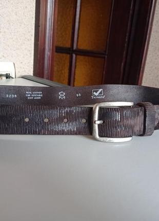 Taranto классный кожаный шкіряний ремень пояс.