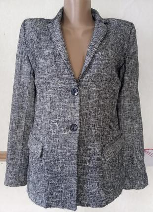 Жаккардовый шерстяной жакет пиджак  италия