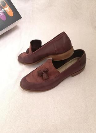 Кожаные лоферы , туфли clarks