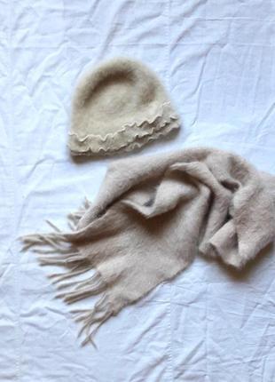 Шапка и шарф ангоровые