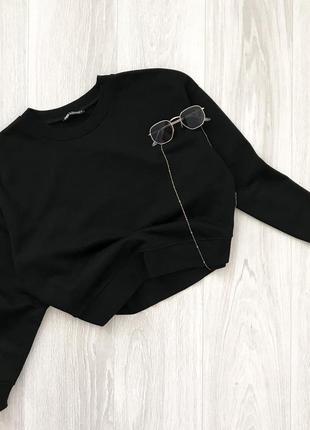 Базовый чёрный свитшот zara
