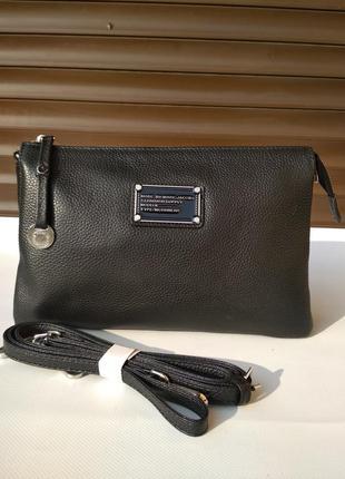 Кожаная сумка-клатч женская