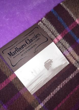 Marlboro classics new! оригинал 100% lane woll шерстяной шарф6 фото