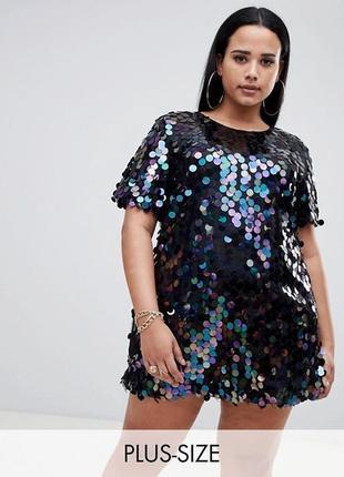 Шикарное платье в пайетку большого размера !