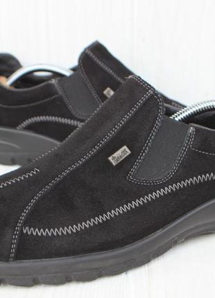 Туфли rieker замша германия 41р непромокаемые полу ботинки