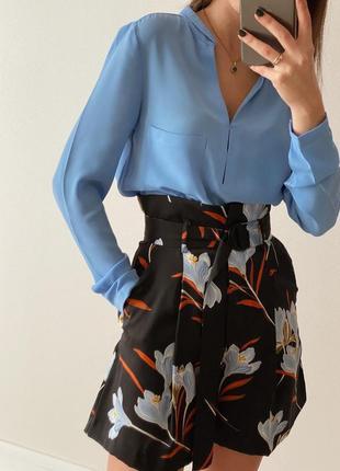 Голубай блузка oodji