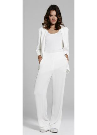 Широкие белые брюки yaya