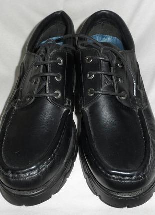 Туфли мужские черные кожаные размер 43