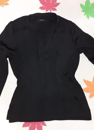 Красивая рубашка с декольте на пуговицах шикарная крутая стильная прямого кроя