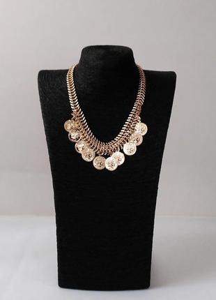 Бохо ожерелье с монетами