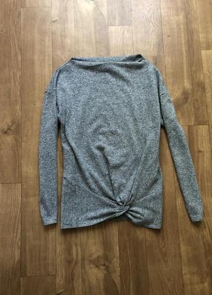 Базовая серая кофта свитер пуловер джемпер реглан