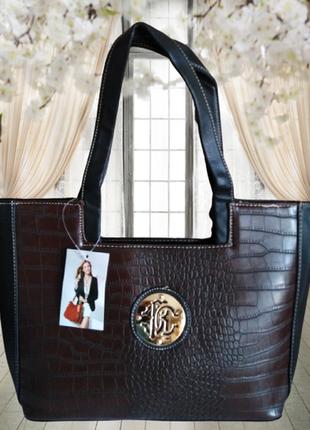 №14. женская стильная сумка в стиле roberto cavalli