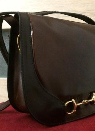 Роскошная винтажная сумка из натуральной кожи