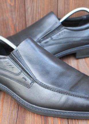 Туфли ecco кожа оригинал 44р лоферы мокасины