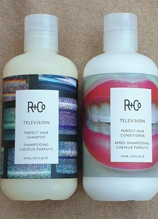 Набор - безсульфатный шампунь и кондиционер для совершенства волос r+co