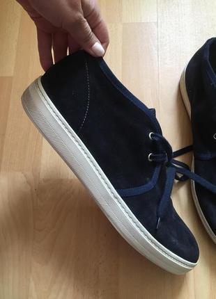 Кожаные сапоги ботинки итальянские zara