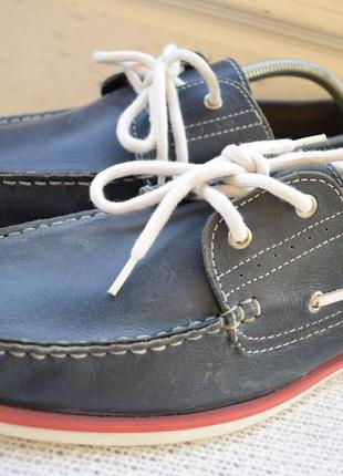 Кожаные туфли мокасины топсайдеры roberto santi active р.45 30 см