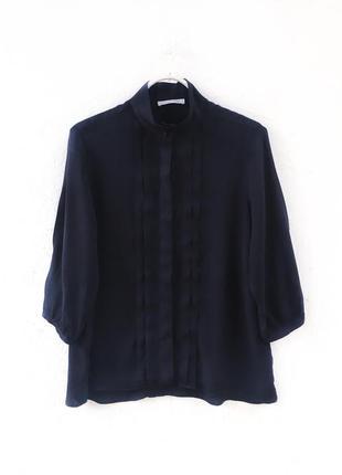 Натуральная блуза  рубашка из плотной спадающей вискозы the shirt factory