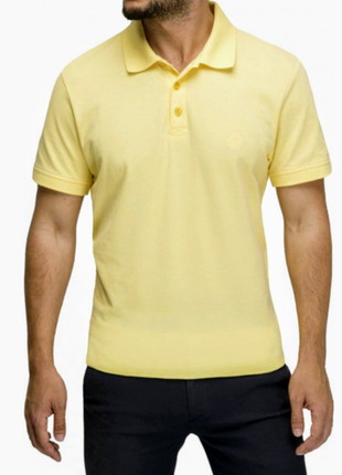 Мужская желтая футболка поло primark, размер м