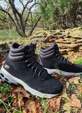 Зимние ботинки skechers dlites chill flurry оригинал натуральная замша