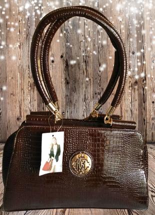 №19. женская стильная сумка в стиле roberto cavalli
