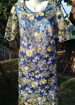 Платье нарядное кружевное   fr collection
