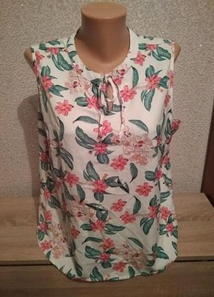 Майка блузка блуза в цветовой принт