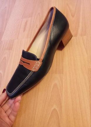 Австрийские, кожаные, женские туфли, туфельки, лоферы, балетки