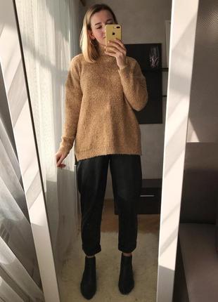 Уютный бежевый свитер marks spenser