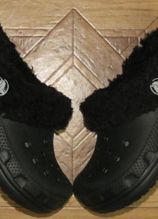 Утепленные сабо тапочки crocs крокс{оригинал}р.23-24