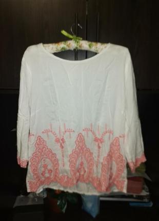 Блузка вышиванка хлопок полированный