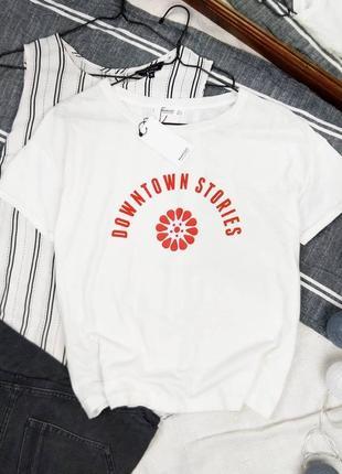 Новая базовая хлопковая кофточка футболка mango