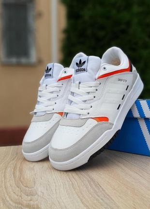 Мужские кроссовки adidas drop step white  белые