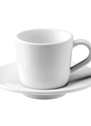 Чашка кофейная с блюдцем, 6 сл