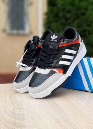 Мужские кроссовки adidas drop step black чёрные