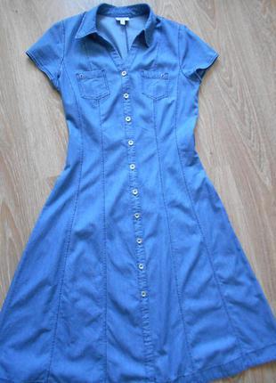 #джинсовое платье-халат#charles voegele#kingfield# р.36\38