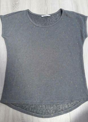 На все 1+1=3 серая футболка блестки