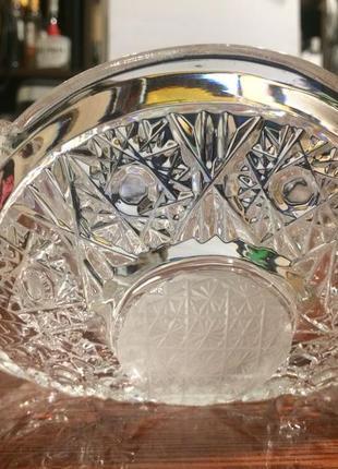Хрусталь стекло ваза ладья салатник большой