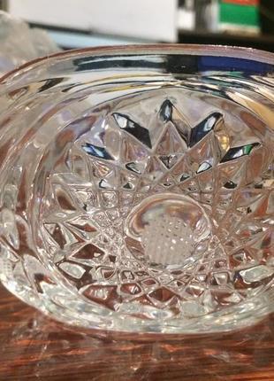 Хрусталь стекло ладья ваза салатник маленький