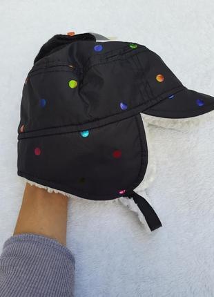 Зимняя шапка с варежками